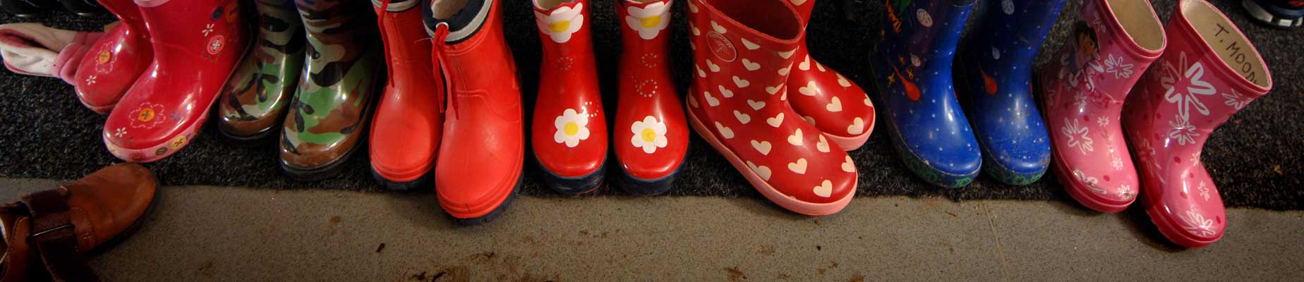 Children's wellies for outdoor learning