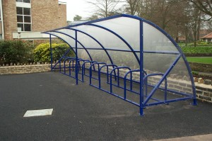 school bike shelter