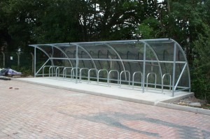 outdoor cycle shelter