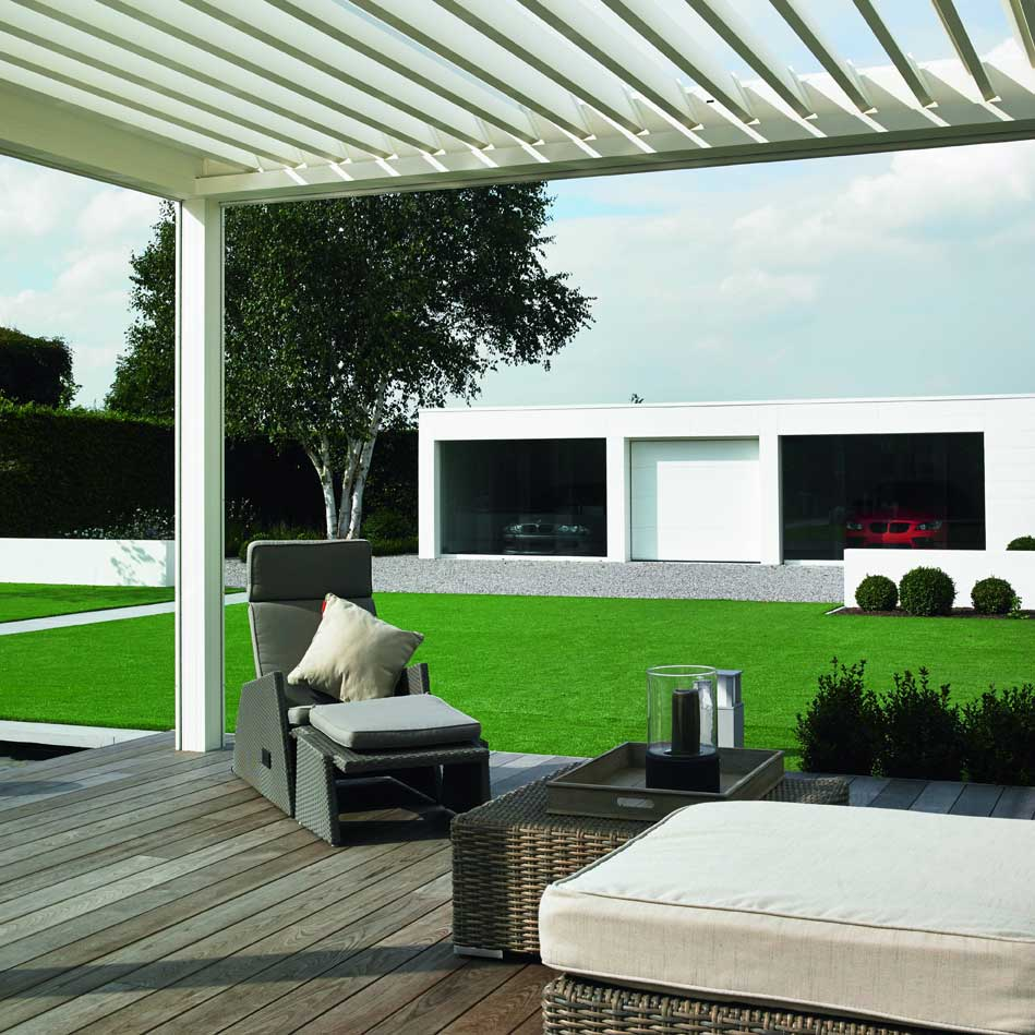 Louvred roofs and pergolas