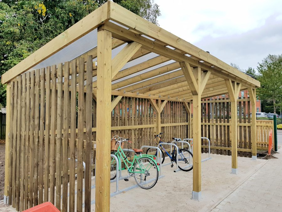 Promote Biking with Durably Designed Cycling Shelters