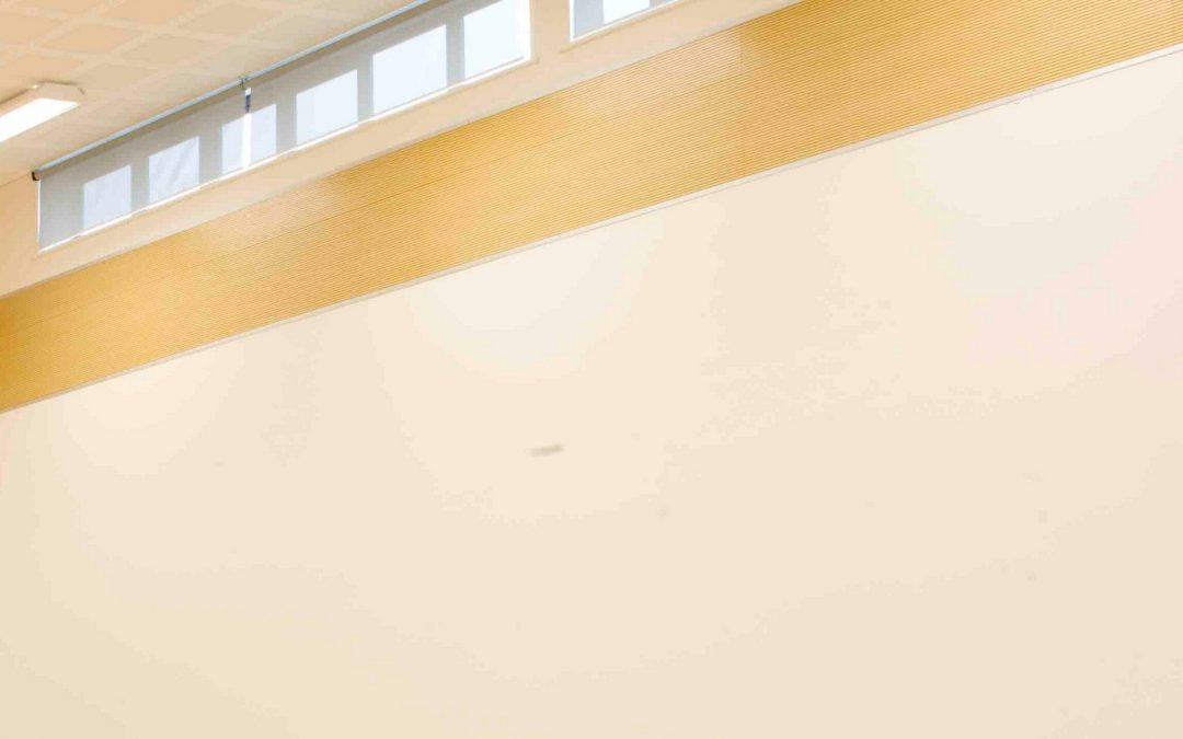 How to provide powered school hall blinds without an electrician