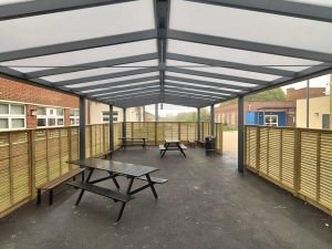 Bristol Free School Saddle roof internal view 3