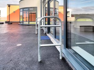 Elk Galvanised door barriers at Somerdale School