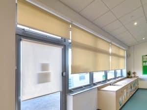 Internal Rolshade 430 roller blinds classroom shot