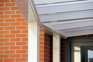 Spaceshade school canopy showing angled cut