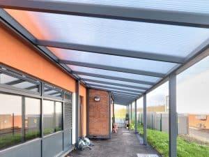 underside view of Somerdale Spaceshade School Canopy