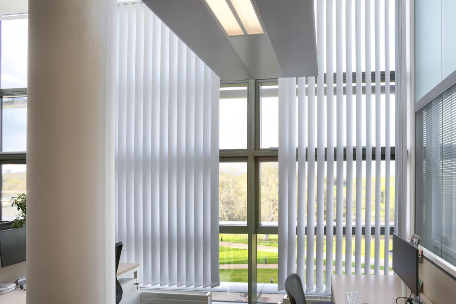 Louvashade vertical blinds in Cardiff, Wales