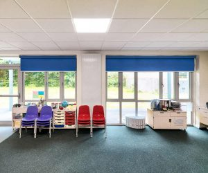 Rolshade 430 roller blinds in classrooms