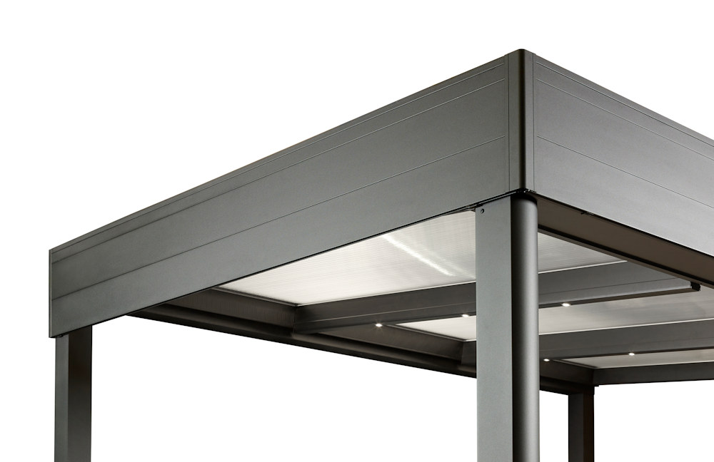 Spaceshade parapet style canopy with fascia panels