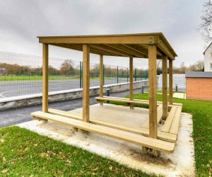 Bespoke Playground shelter facing the football pitch