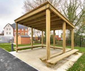 Bespoke timber playground shelter