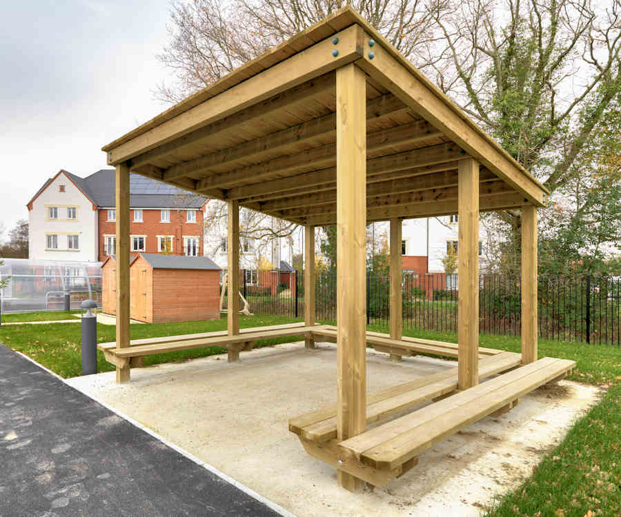 bespoke outdoor shelter for school