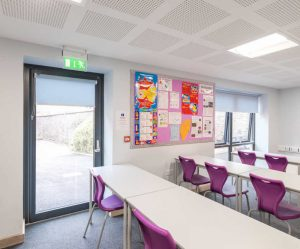 Roller blinds in classrooms