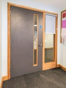 Roller blinds for door panels