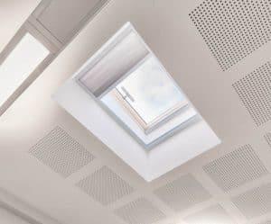 Solar powered rooflight blind