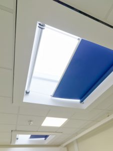 Classroom rooflight blinds