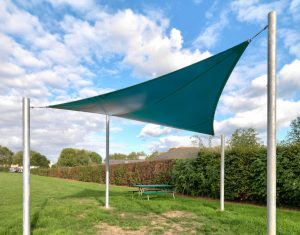Sailshade tensile canopy in school field