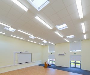 School Hall - Rolshade roller blinds and rooflights