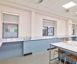 Motorised blackout blinds - Science Labs