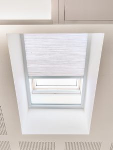 Pleated rooflight blinds by Kensington