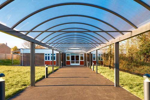 Covered Walkway for Schools
