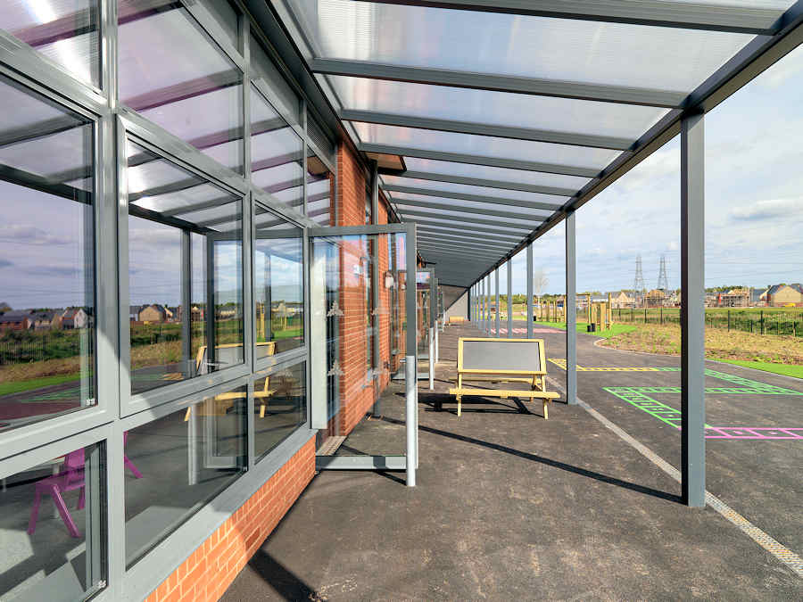 Example outdoor space created by Kensington Systems school canopy