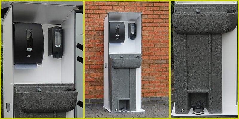 Photos Showing Coronavirus Response Hand Wash Units