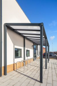 District Centre Canopy and Cycle Hoops